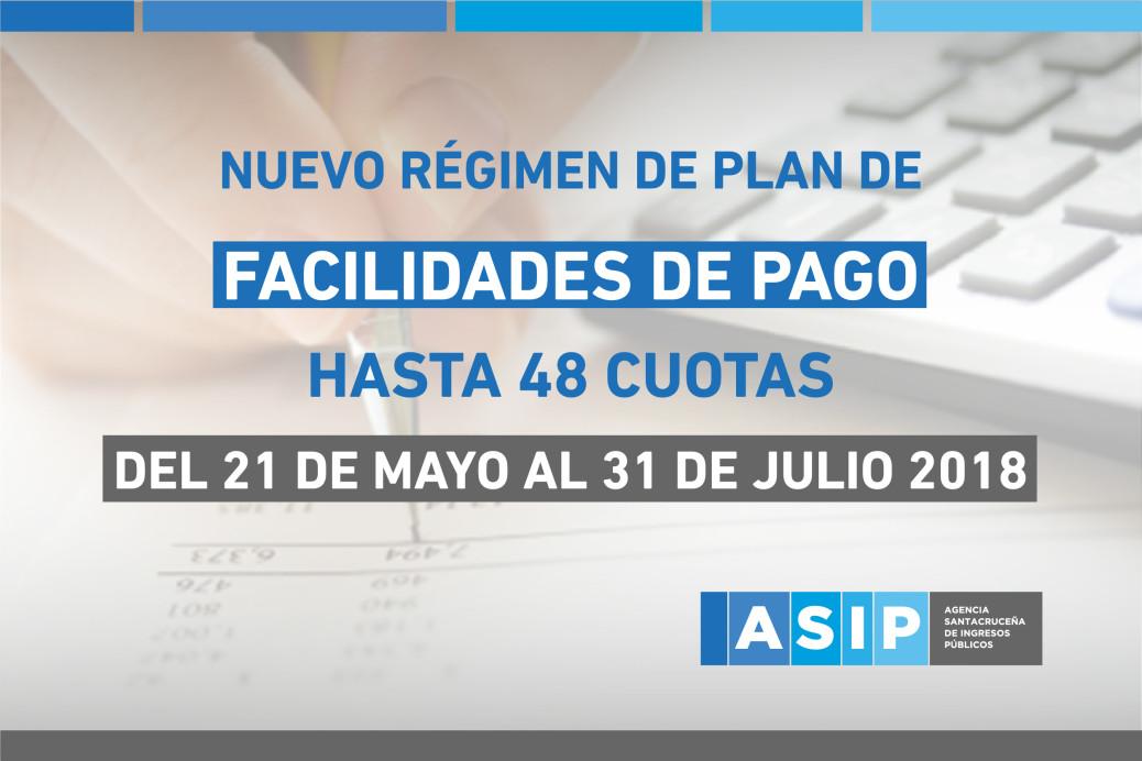 NUEVO RÉGIMEN DE PLAN DE FACILIDADES DE PAGO HASTA 48 CUOTAS