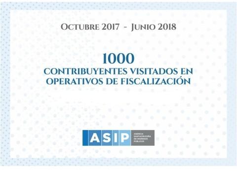 LA ASIP INFORMÓ QUE A JUNIO SE CONSTARON DE MANERA PERSONALIZADA A 1.000 CONTRIBUYENTES EN LA PROVINCIA DE SANTA CRUZ.