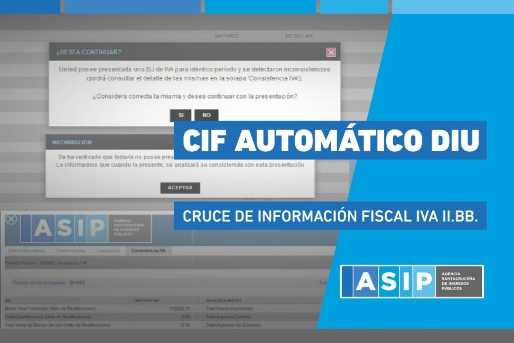 ASIP INFORMO SOBRE NUEVO CRUCE AUTOMÁTICO DE INFORMACIÓN FISCAL EN DECLARACIONES JURADAS A PARTIR DE DICIEMBRE 2018