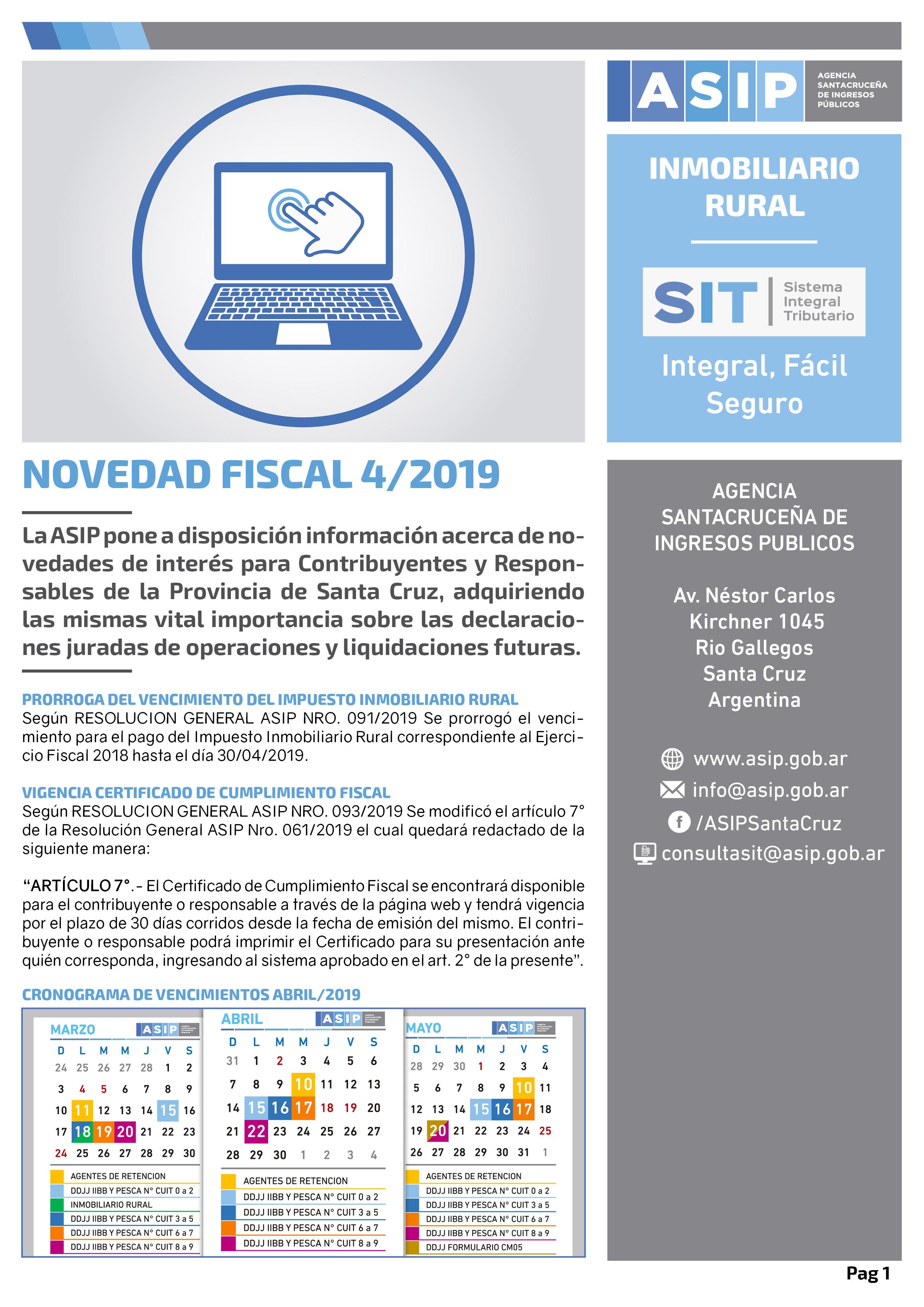 Alerta Fiscal ASIP 4-2019