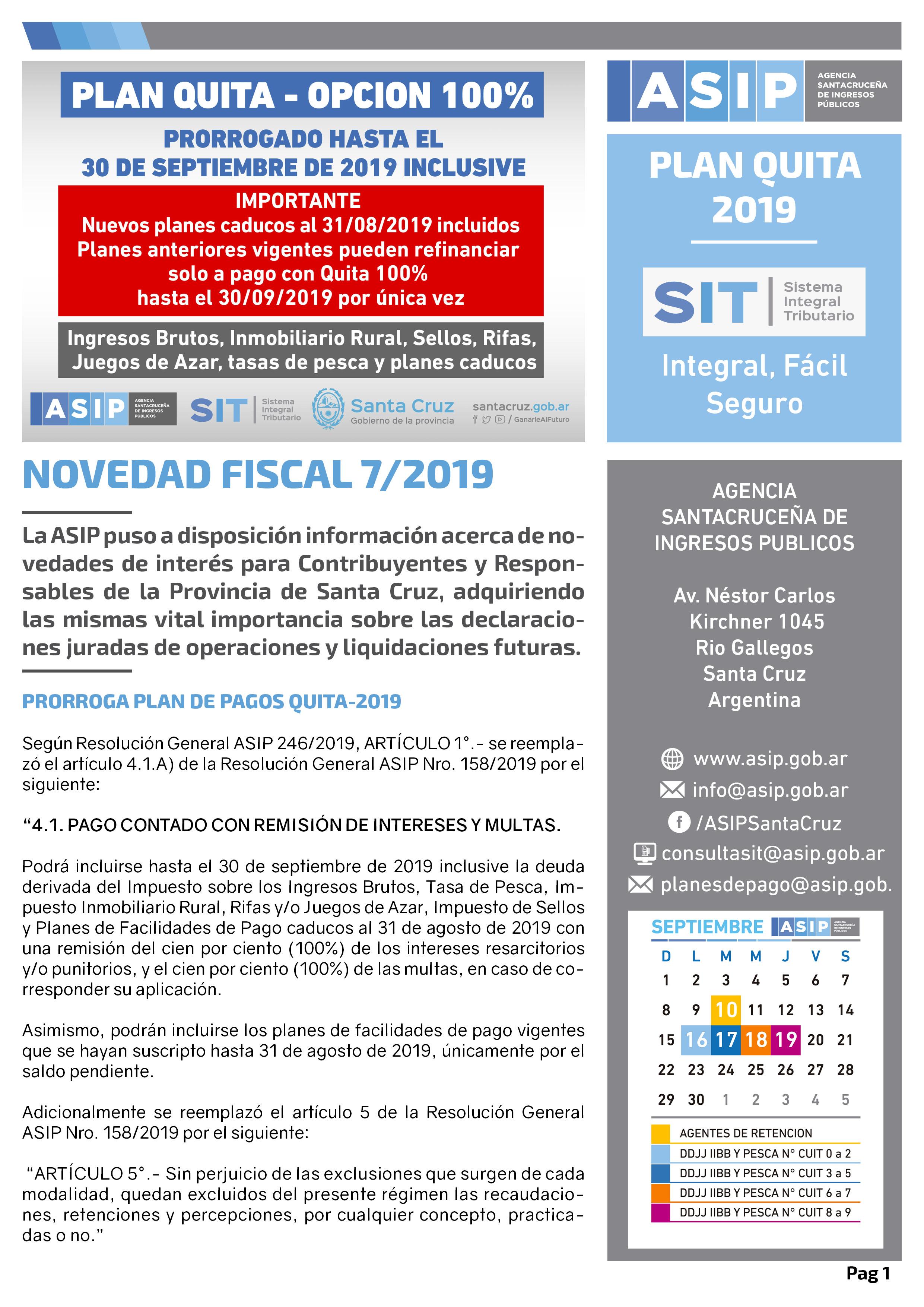 Alerta Fiscal ASIP 7-2019