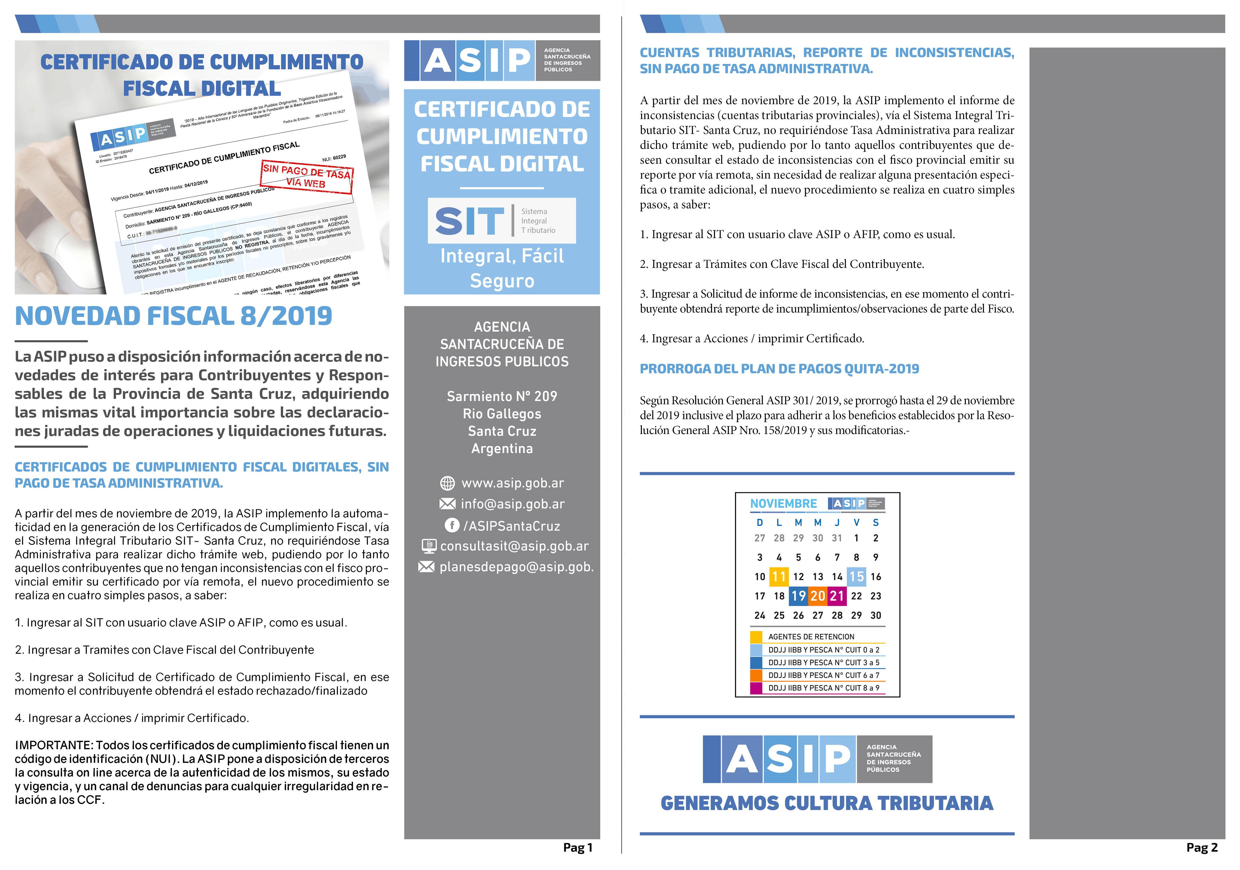 Alerta Fiscal ASIP 8