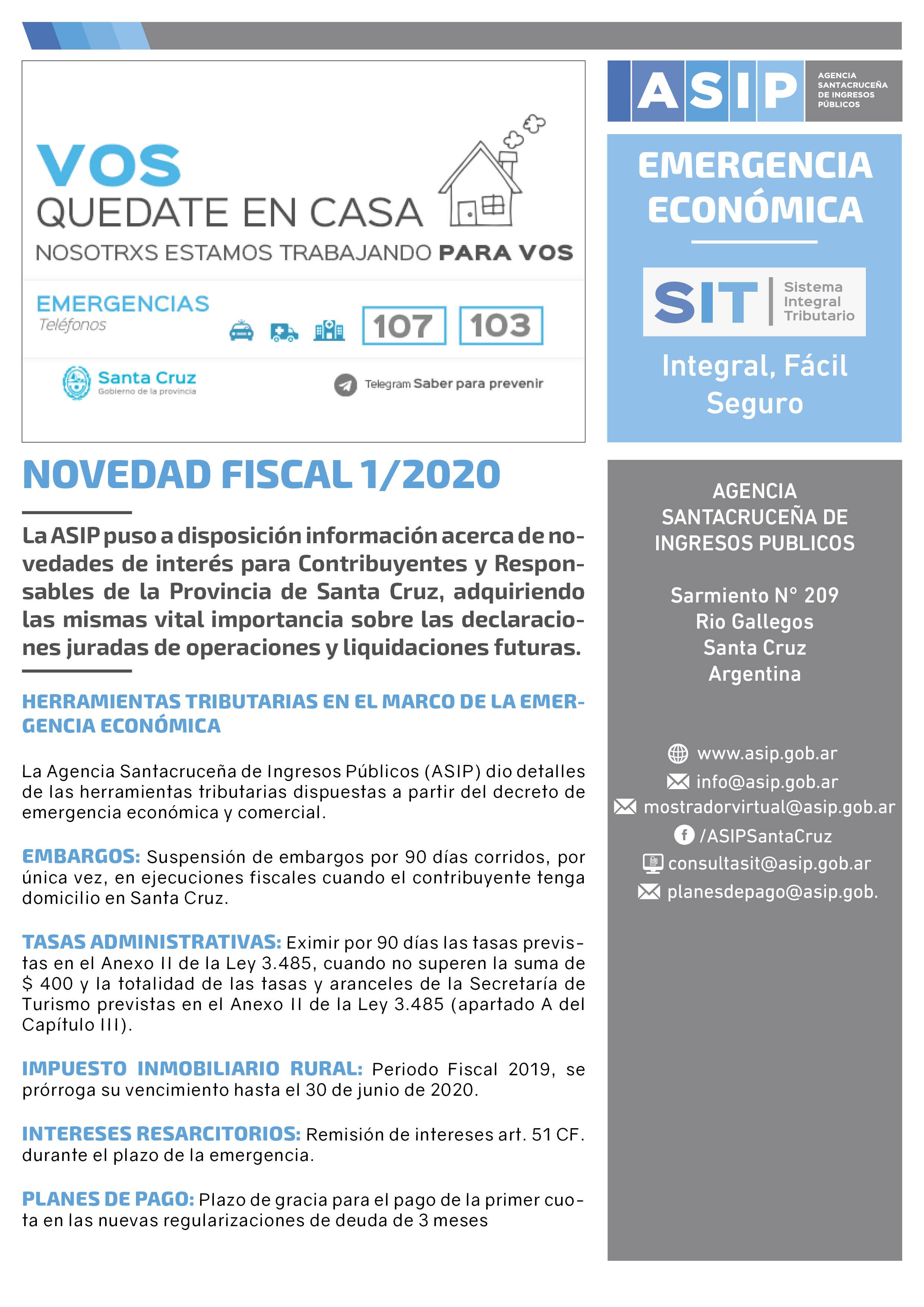 Alerta Fiscal ASIP 1-2020