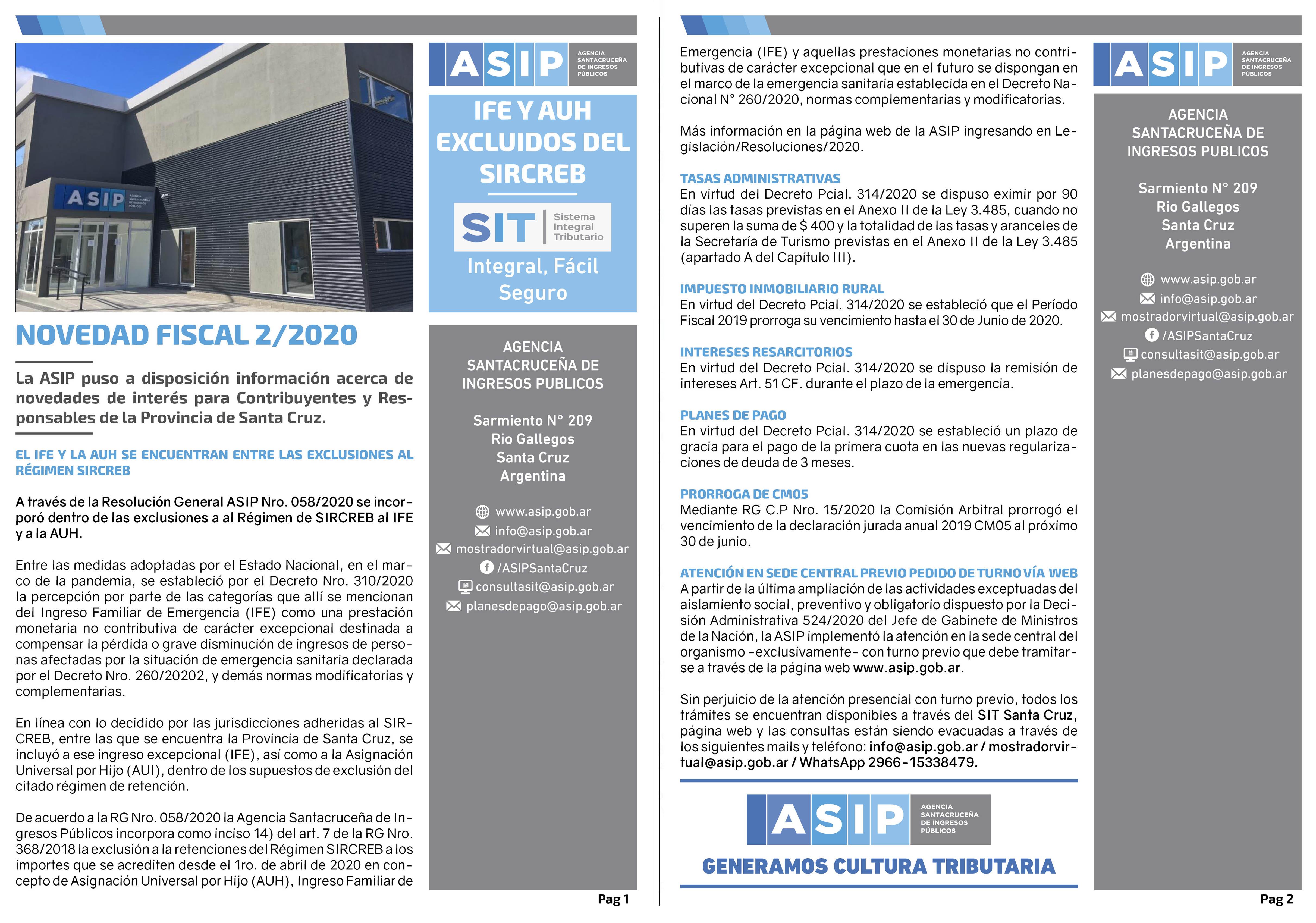 Alerta Fiscal ASIP 22020